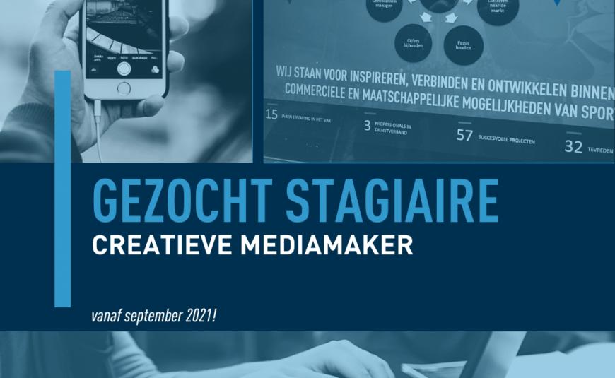 Gezocht stagiaire creatieve mediamaker